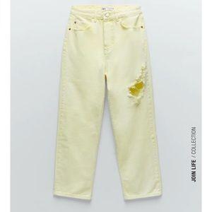 Zara Acid Wash Straight Jeans